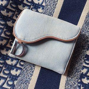 Dior 💙 Denim Saddle Vintage Small Bifold Wallet